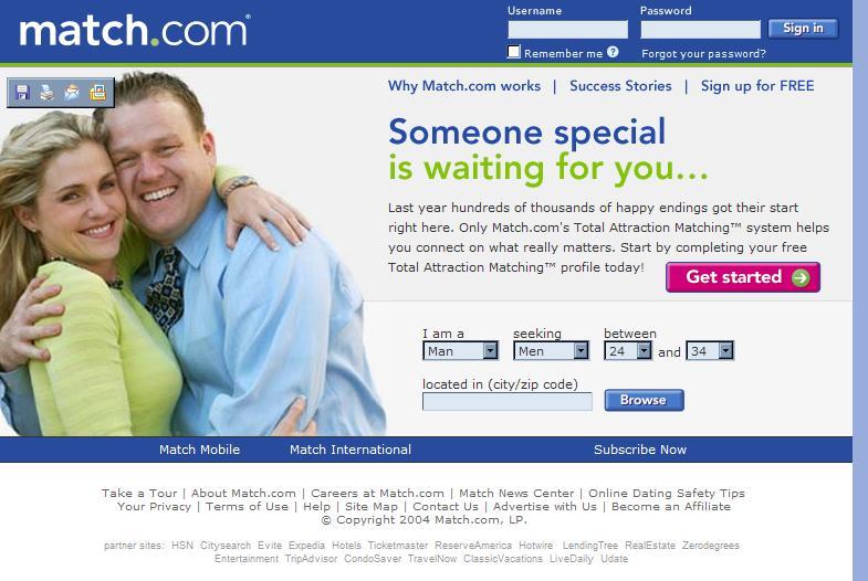 Dating website code